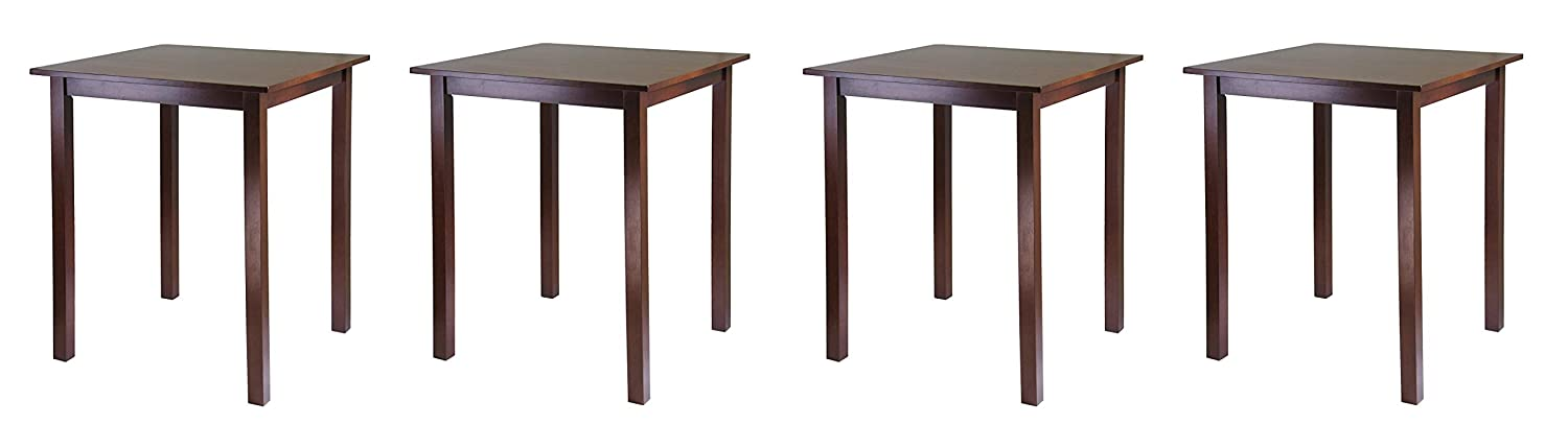 Winsome Wood 94134 Parkland Dining, Walnut (Pack of 2)