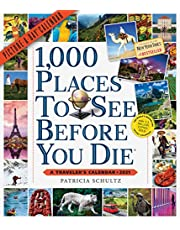 """1000 Places to See Before You Die Picture-A-Day Wall Calendar 2021 [12"""" x 14"""" Inches]"""