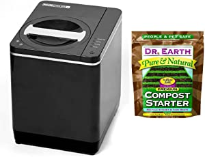 Food Cycler Platinum Indoor Food Recycler and Kitchen Compost Container PLUS Dr. Earth Pure & Natural Compost Starter 3 lb