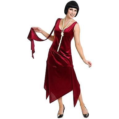 94429925c01 Amazon.com  Sandy Speak Easy Flapper Adult Costume Wine - Plus Size 3X   Clothing