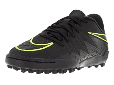Nike Kids Hypervenom Phelon II Turf Black Black Volt Shoes - 1Y 3bc6e6067