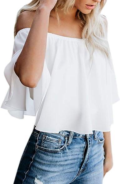 JUTOO Casual Prime Blusas Mujer Tallas Grandes Elegantes Blusas para Mujer Elegantes Blusa Blanca Mujer Encaje Blusa Blanca Mujer Verano Blusa Blanca Mujer sin Mangas Blusa Blanca Mujer Fiesta Blusa: Amazon.es: Ropa
