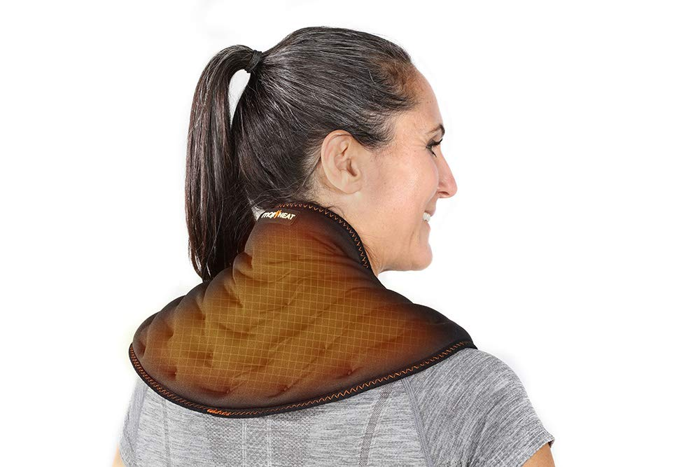 Moji Heated Neck Wrap - Microwavable Moist Heat Pain Relief - Delivers #1 Doctor Recommended Treatment for Back Pain - Alleviates Tension & Stiffness - 30 Minutes of Deep Penetrating Heat by Moji