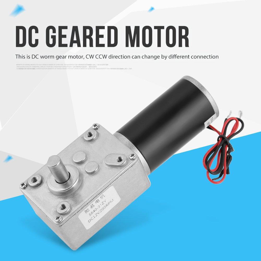 200RPM 5840-31ZY Im/án permanente DC Turbo Worm Motorreductor Reductor motor 12V