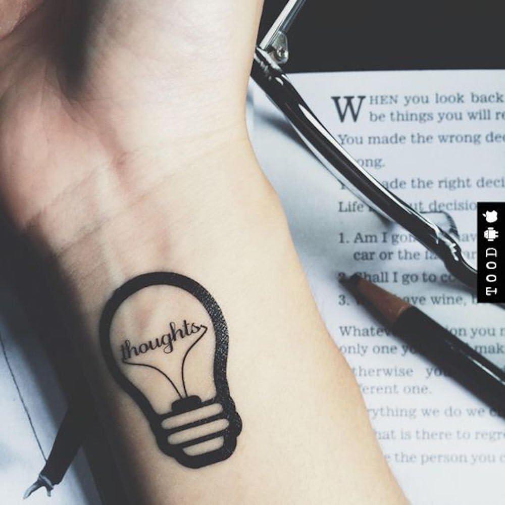 Tatuaje Temporal de Bombilla (2 Piezas) - www.ohmytat.com: Amazon ...