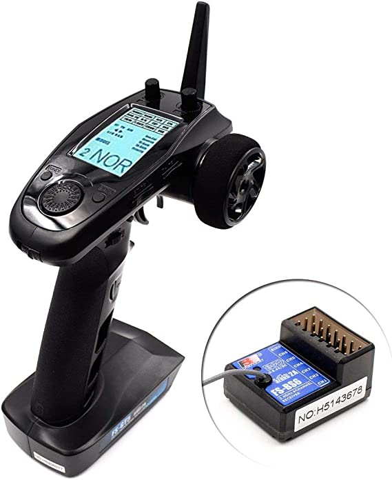 Flysky FS-GT5 6CH RC Transmitter with FS BS6 Receiver , 2.4Ghz AFHDS 2A Protocol Transmitter and Receiver for RC Car Boat ect (Failsafe Function + ...