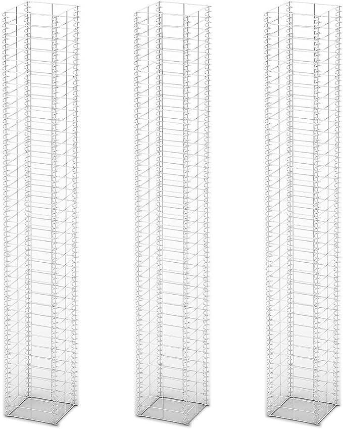 vidaXL 3X Panier de Gabion Fil Galvanis/é 25x25x197cm Cl/ôture de Jardin Pierres