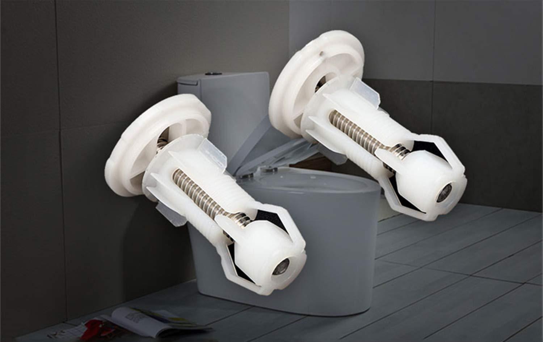 PPX Lot de 2 WC si/ège couvercle Vis extensible en nylon et /écrous de fixation sup/érieure