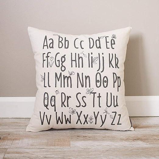 Funda de almohada de alfabeto natural personalizada, regalo ...