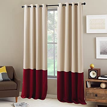 block treatment drapes bedroom window curtains colorful colorblock on pinterest coral color panels best images