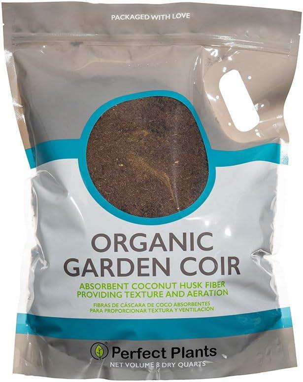Perfect Plants Organic Garden Coir | 8qt. Premium Garden Coir | Can Be Used as Soil Amendment or Potting Medium
