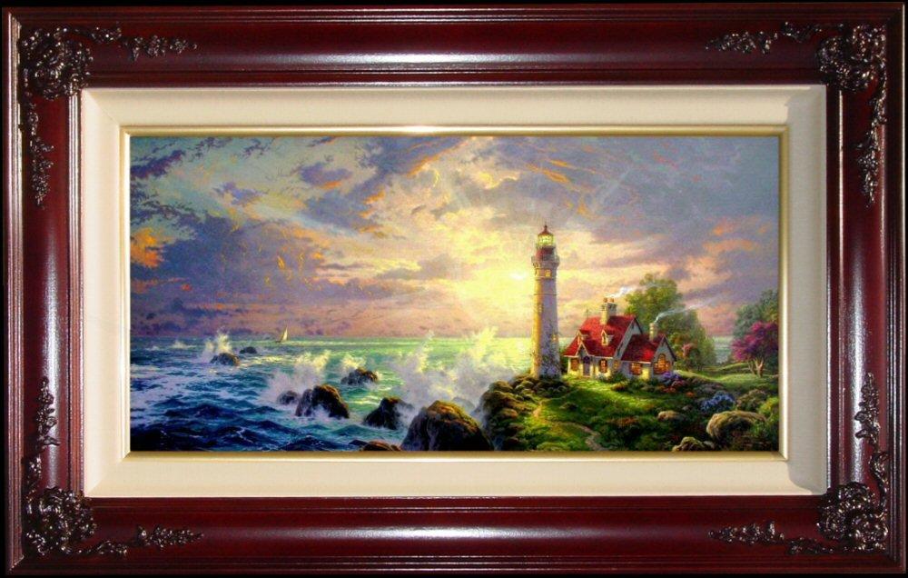 The Guiding Light by Thomas Kinkade 18'' x 36'' Gallery Proof by Thomas Kinkade The Guiding Light