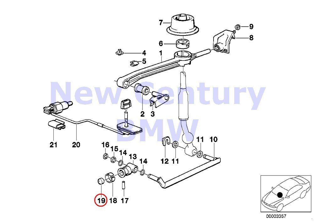 BMW Genuine Gearshift Manual Transmission Plastic Washer 2002 2002tii 528i 530i 320i 733i 735i 630CSi 633CSi 635CSi M6 528e 533i 535i M5 3.0S 3.0SBav 3.0Si 318i 318is 325e 325i 325ix M3 850Ci 850CSi 7