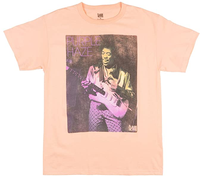 755e3e6570a Jimi Hendrix Purple Haze Mens T-Shirt in Peach