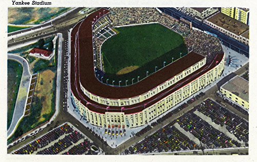 NYC, New York - Aerial View of Yankee Stadium (16x24 SIGNED Print Master Giclee Print w/Certificate of Authenticity - Wall Decor Travel Poster) (Aerial View Yankee Stadium)