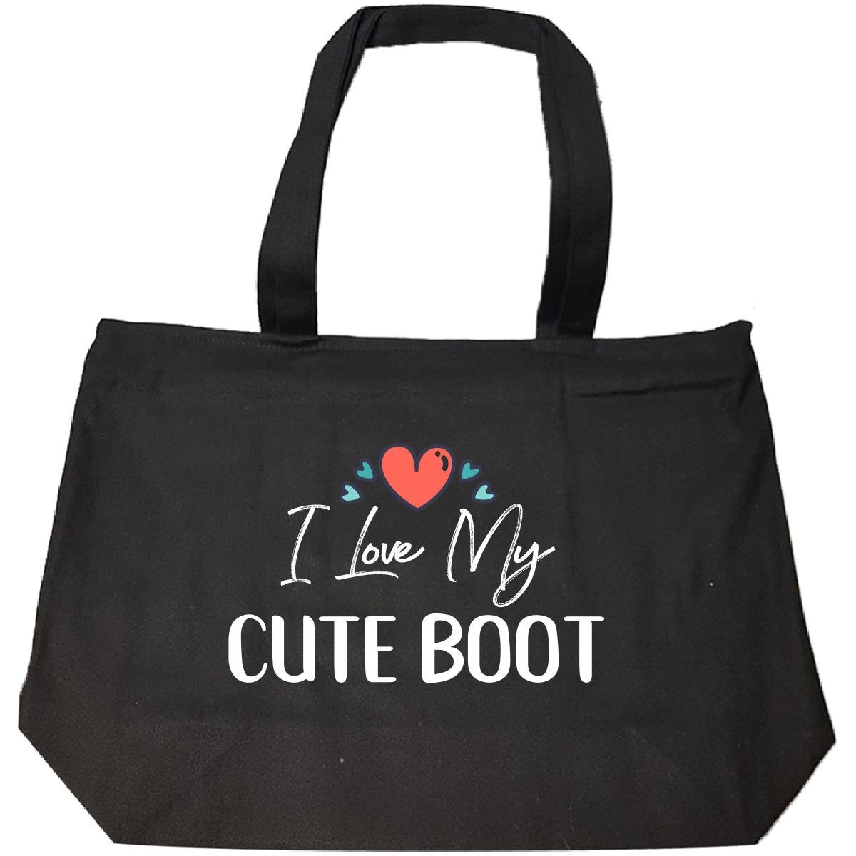 I Love My Cute Boot Mothers Day Gift Kid Child Nickname - Tote Bag With Zip