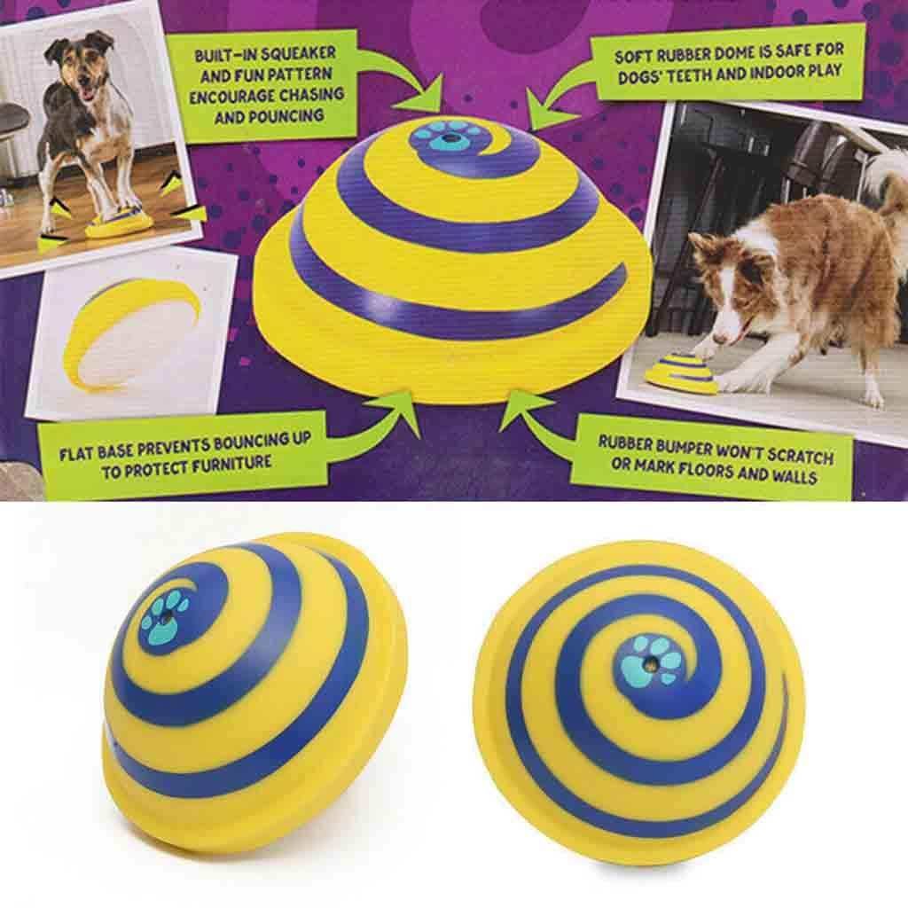 wyxhkj Sounding Disc WOOF Glider Soft /& Safe Gomma Sana per Indoor Play Giocattolo Pet Dogs Toy Entertainment