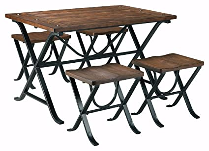 Ashley Furniture Signature Design   Freimore Dining Room Table And Stools    Set Of 5