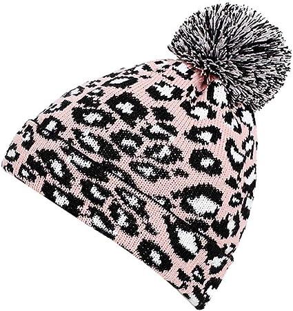 US STOCK Women Baby Warm Winter Knit Wool Beanie Fur Pom Bobble Hat Crochet Cap