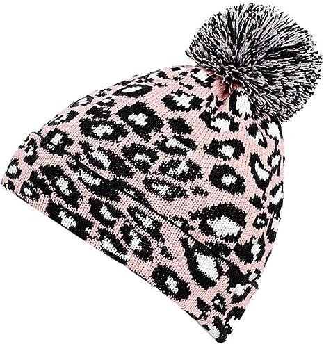 Atezch - Gorro de Ganchillo para Mujer, diseño de Leopardo: Amazon ...