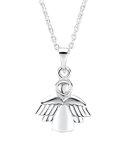dp pendant childrens guardian com sterling children amazon necklace s silver petite angel