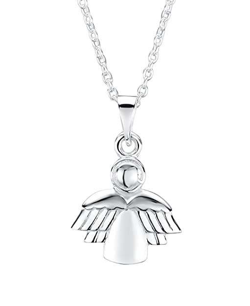 Truly Charming Sterling Silver Guardian Angel Pendant And Chain 40 cm Extendable Chain by JyHqd