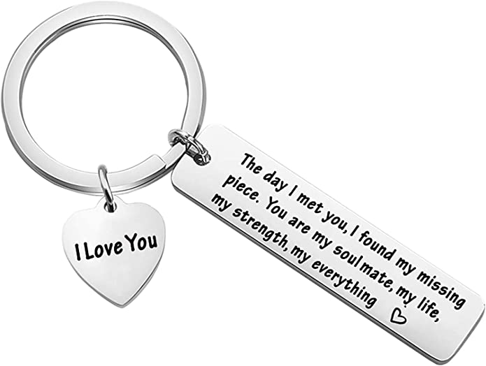 Amazon.com: BNQL Husband Gifts from Wife Keychain The Day