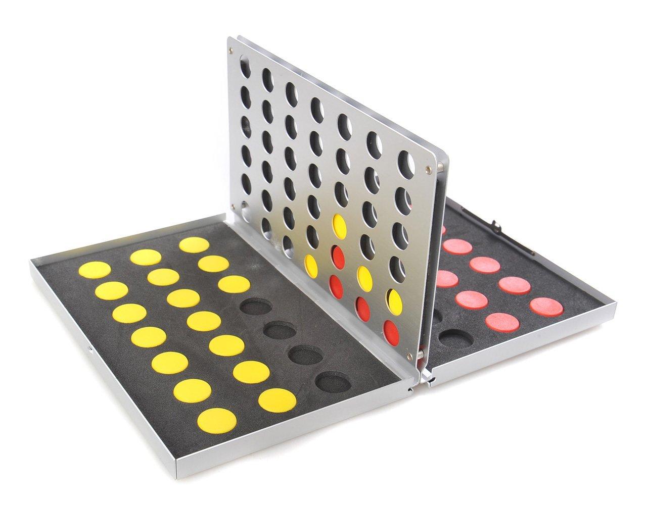measures 17,2cm x 11,5cm x 2cm Aluminium Case Connect Four XY011P US Quantum Abacus Attica Alu Series