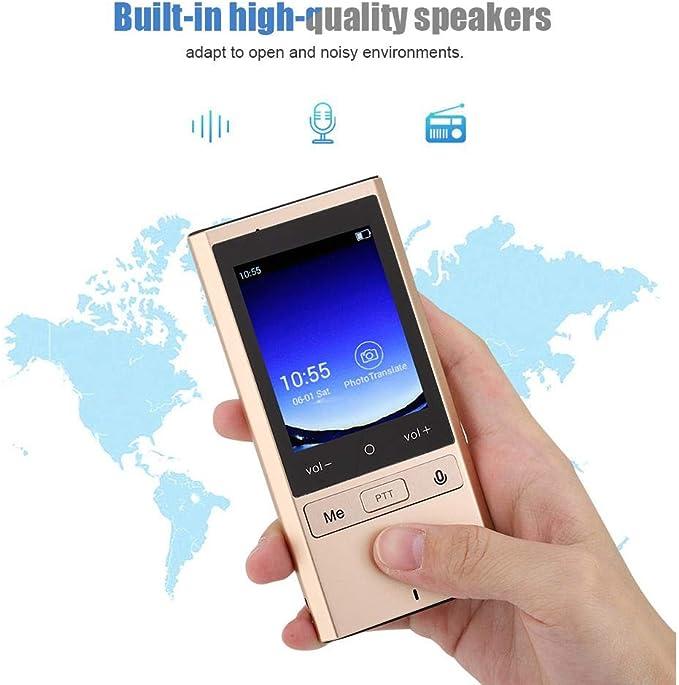 Oumij Sprach/übersetzer Smart Portable Echtzeit T9 Wi-Fi-Version Reise ins Ausland /Übersetzer Simultan/übersetzung 75 Sprachen 500 Personen Online-/Übersetzung von Mehreren Personen Gold