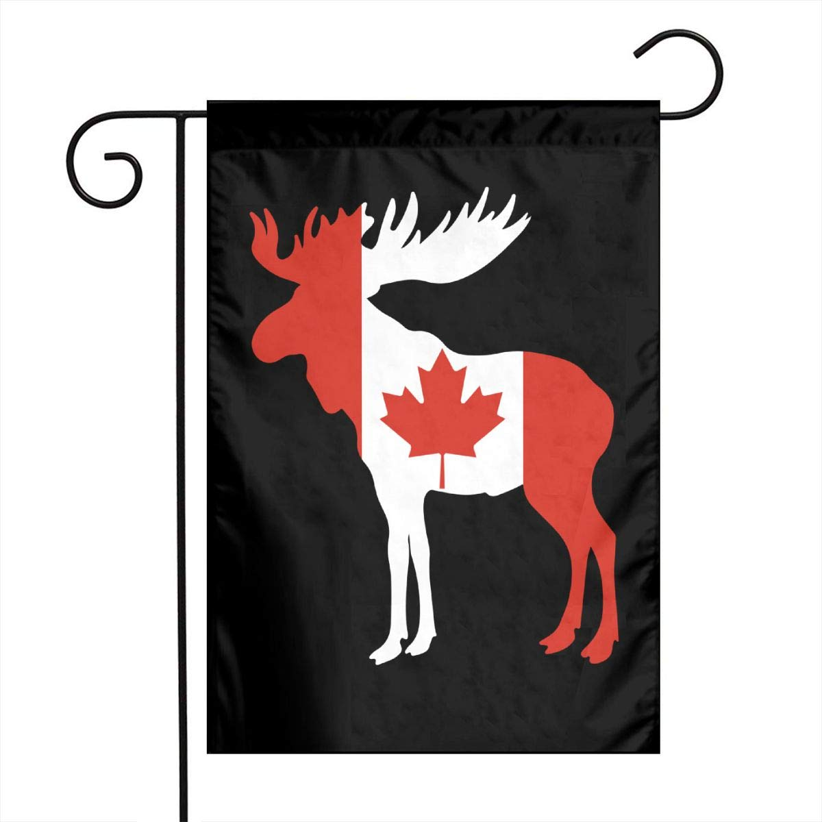 ZZATAA Canadian Flag Moose Garden Flag Decoration Banner Decorative Sweet Home Yard Festival Outdoor 12X18inch