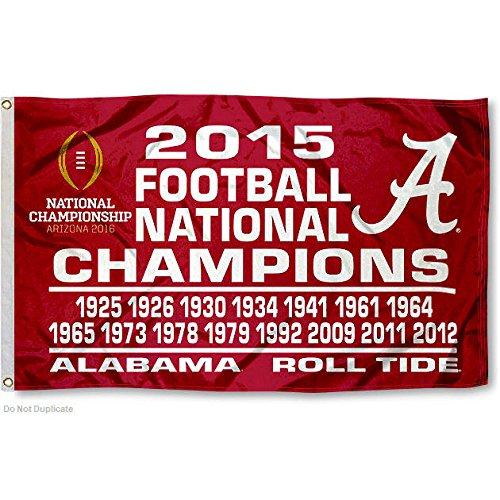 Alabama Crimson Tide 16 Time National Champs 3' x 5' Flag