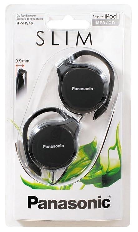 Delgado Panasonic RP-HS46E K-On-Ear Auriculares de Tipo Clip / Diseño