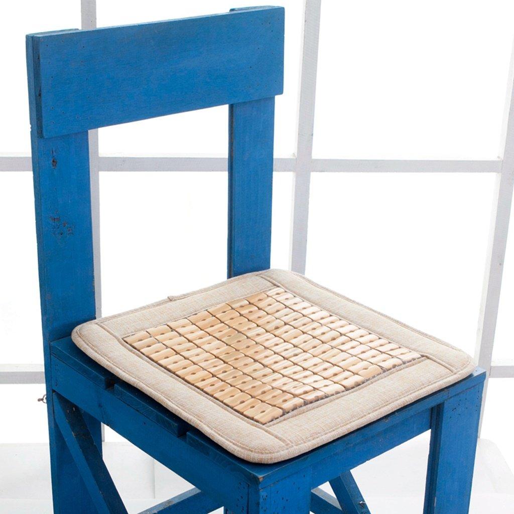 Sedia mat MMM Raffreddare Cuscino per sedie Cuscino per sedie da ufficio Studente traspirante antiscivolo Cuscino da seduta in bambù Mahjong estivo (Colore : Beige, dimensioni : 40 * 40cm) ohshop