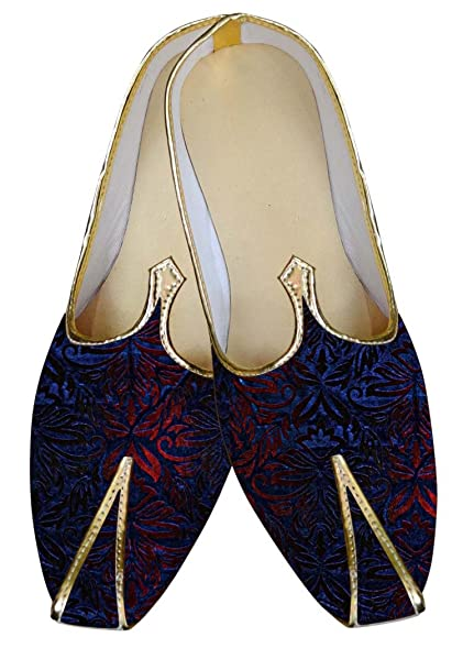 Mens Black and Blue Wedding Shoes Partywear MJ14094