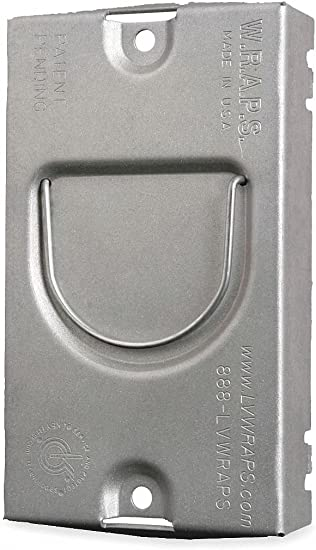 """Electrical Box Cover 2 Gang Square Metal Durable pre-galvanized steel 4/"""" Inch"""