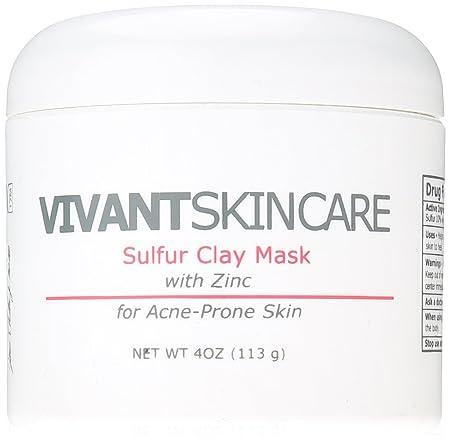 Vivant Skin Care Sulfur Clay Mask, 4 Ounce