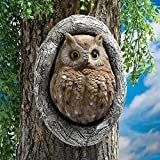 Design Toscano Knothole Owl Tree Sculpture (Set of 2)