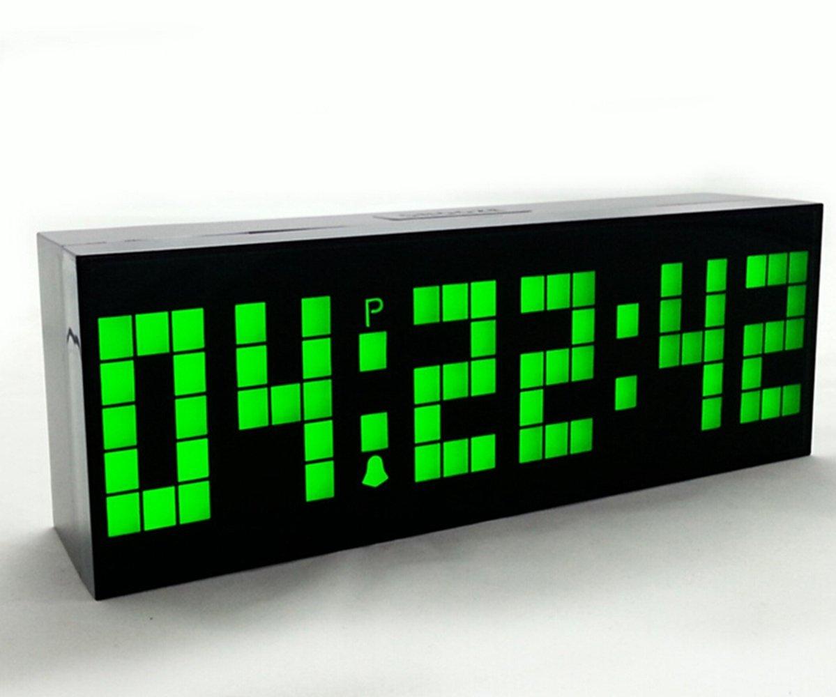c507a7e6905f Yosoo Reloj Grande LED Alarma Tiempo Relojes Digital Cuenta Atrás Adelante  Reloj con Controlador Remoto (Verde)  Amazon.es  Hogar