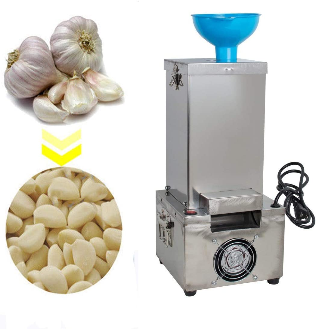 funwill Electric Garlic Peeler Machine 110V 180W Commercial Stainless Steel Silicone Garlic Peeling Machine Fast and Labor-saving