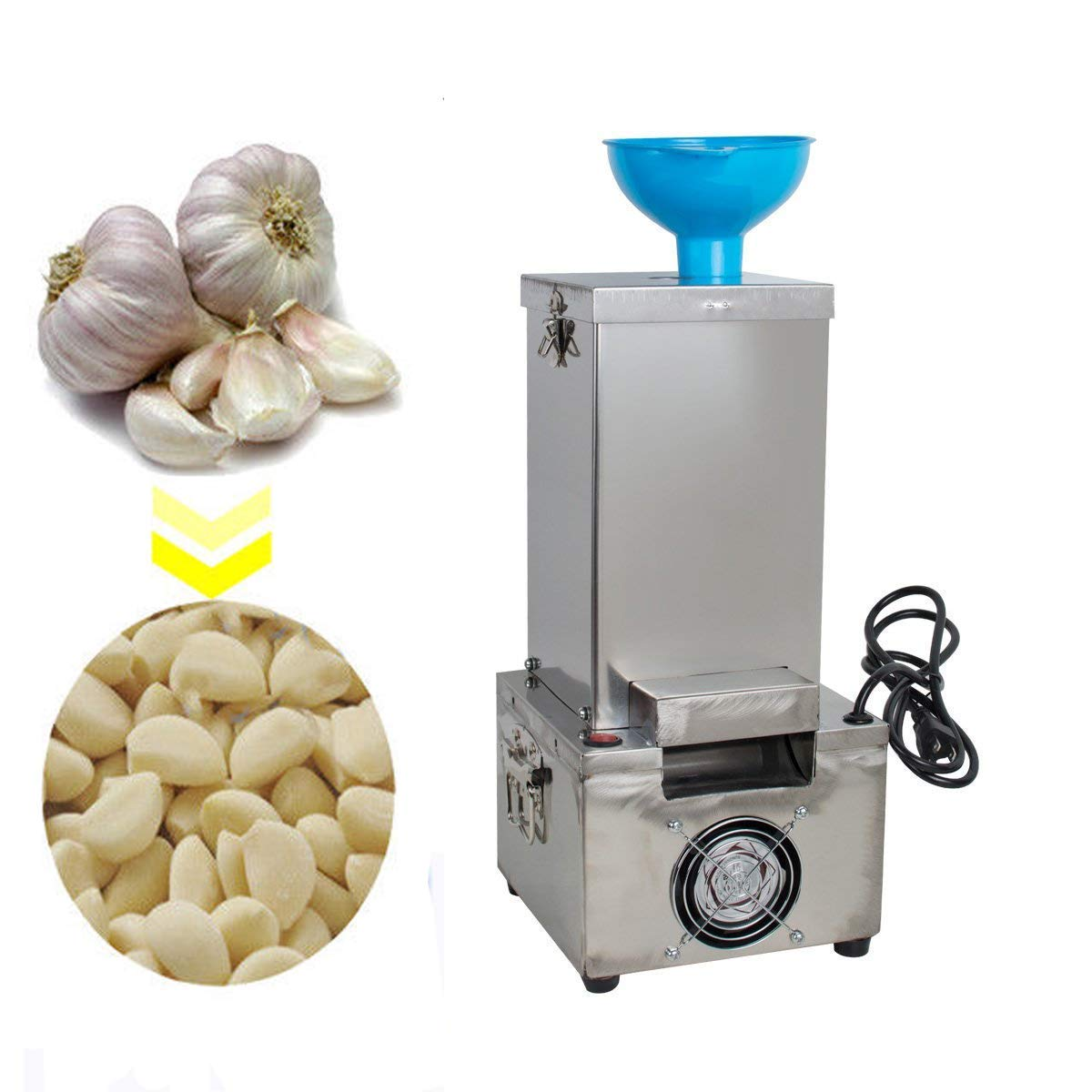 Zinnor Garlic Peeler Machine Commercial Electric Stainless Steel Silicone Garlic Peeling Machine 110V 180W Garlic Peeler Machine Fast and Labor-saving Automatic Peeler (shipping from US) by Zinnor