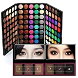 120 Colors Makeup Eyeshadow Palette Natural Nude Matte Shimmer Glitter Pigment Eye Shadow Pallete Waterproof Smokey Professional Cosmetic Beauty Kit Set BESTLAND (120 Colors)