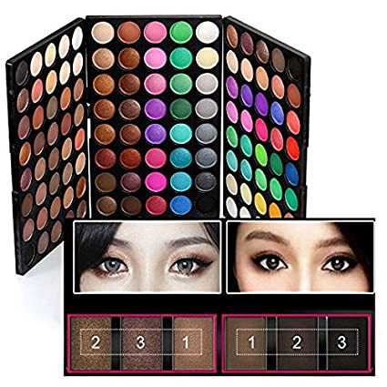 120 Colors Makeup Eyeshadow Palette Natural Nude Matte Shimmer Glitter  Pigment Eye Shadow Pallete Waterproof Smokey Professional Cosmetic Beauty  Kit