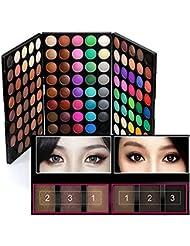 120 Colors Makeup Eyeshadow Palette Natural Nude Matte...