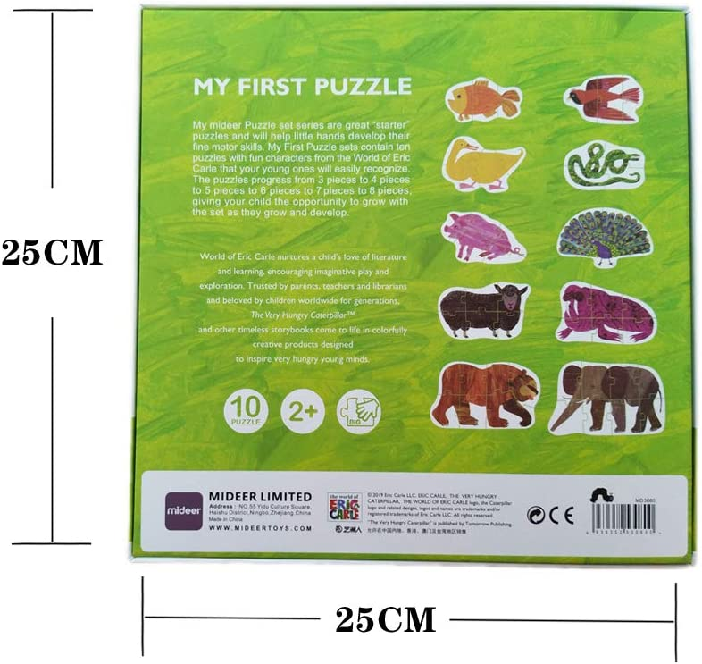 Stationery Animal Series Puzzle Baby Enlightenment Cognitive Large Piece of Paper Puzzle Early Childhood Puzzle Toy(9.84x1.97x9.84 inches) Animal Series 31PCS
