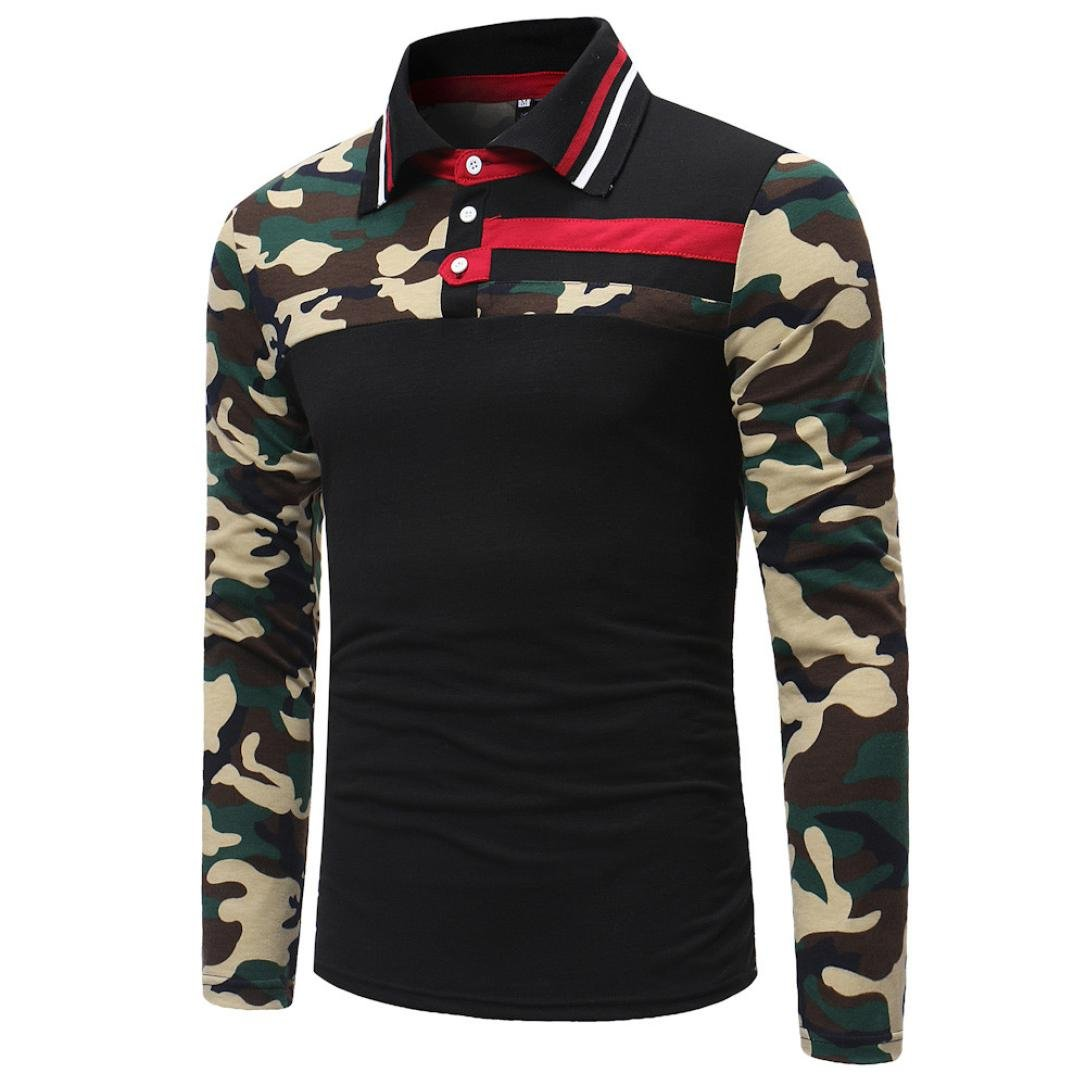 Amazon Vermers Men Polo Shirts Fashion Mens Camouflage Joint