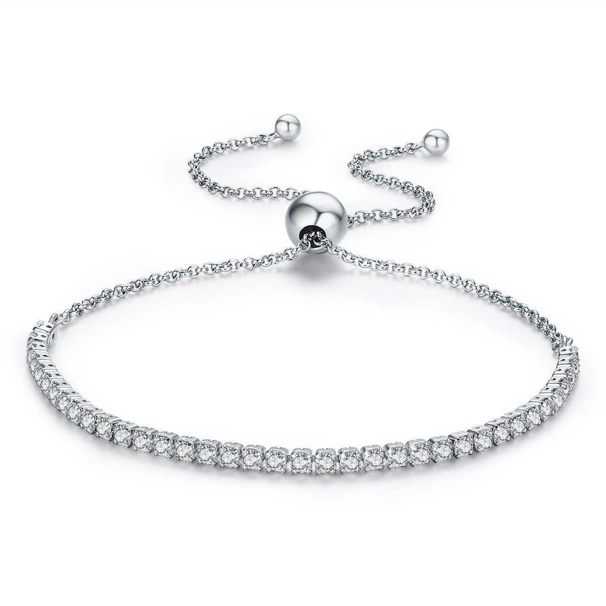 CLÉMENT & Hilton Hand Chain Bracelet Specially for Women Girls 925 fine Silver/Crystal The Most Intimate Gift for Friends o Mothers by CLÉMENT & HILTON (Image #1)