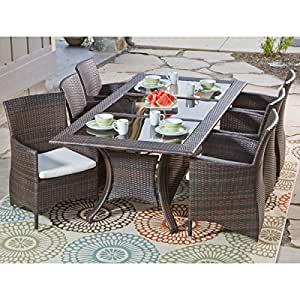 Southwick 7 Piece Dining Set Outdoor Wicker