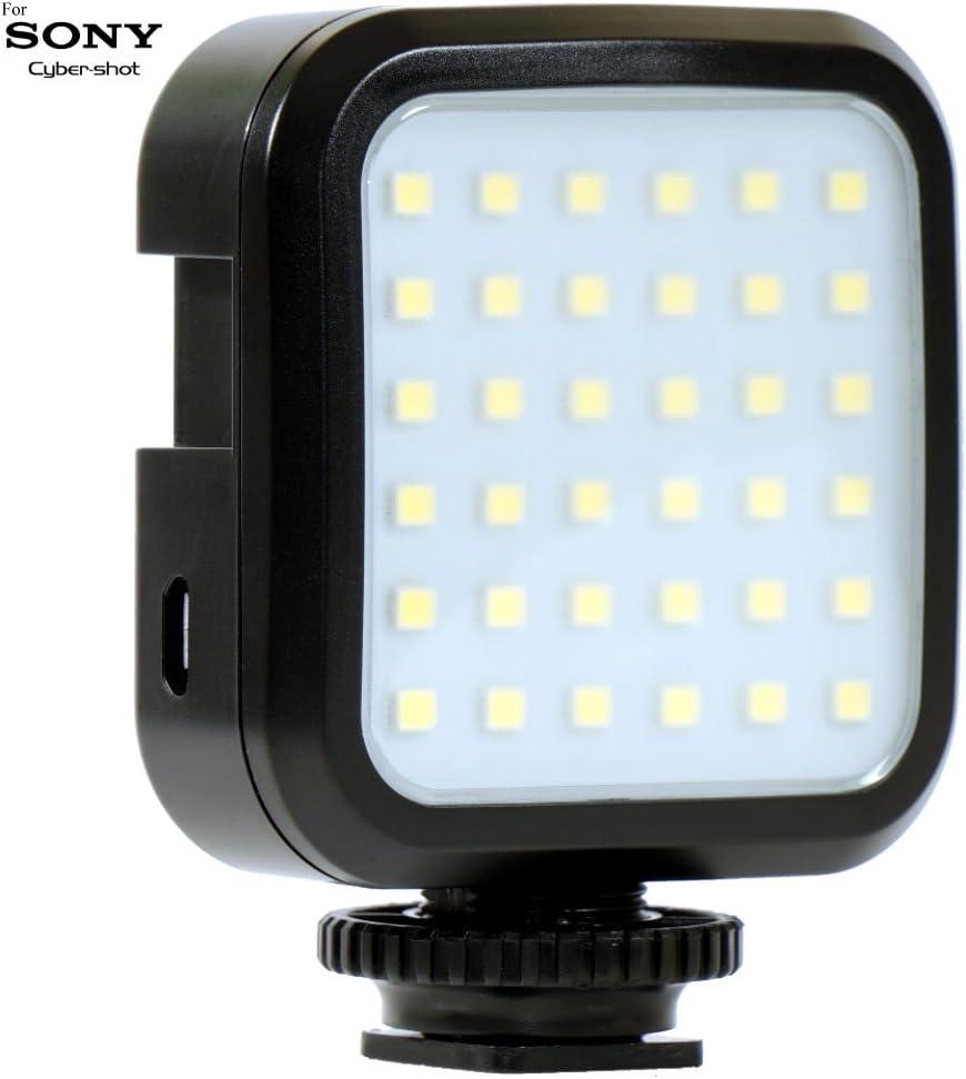 DSC-F828 DSC-F717 DSC-F707 DSC-HX400V DSC-D770 DSC-HX50V Cameras: Stackable LED Light Panel Powerful 36 LED Array Shoe Mount Adjustable LED Video Light for Sony Cyber-Shot DSC-D700