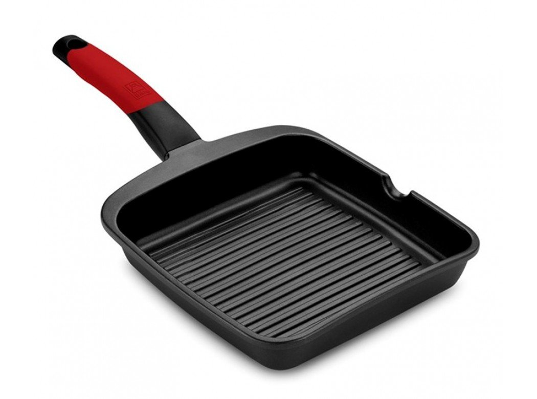 -Bra- A411428 - Grill plancha 28cm rayas c/m ind al/fu ne/ro premiere bra: Amazon.es: Bricolaje y herramientas