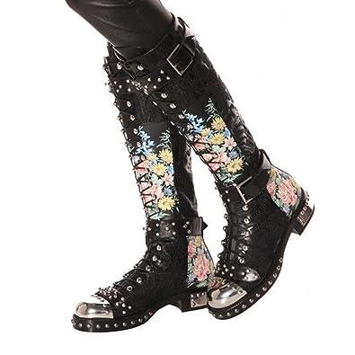 Frauen Oberschenkel Hohe Punk Stiefel Damen Über Die Knie